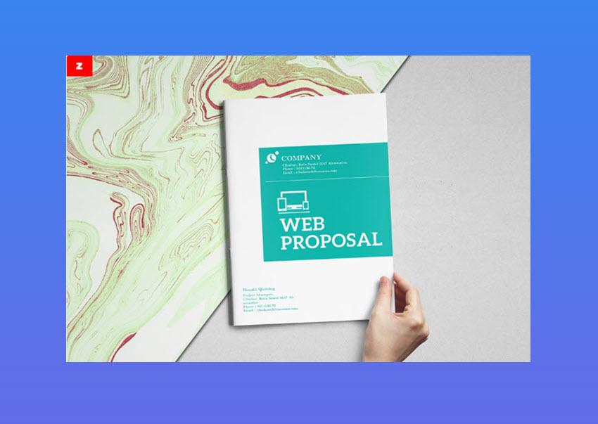 Plantilla para propuesta comercial web - diseno moderno y elegante