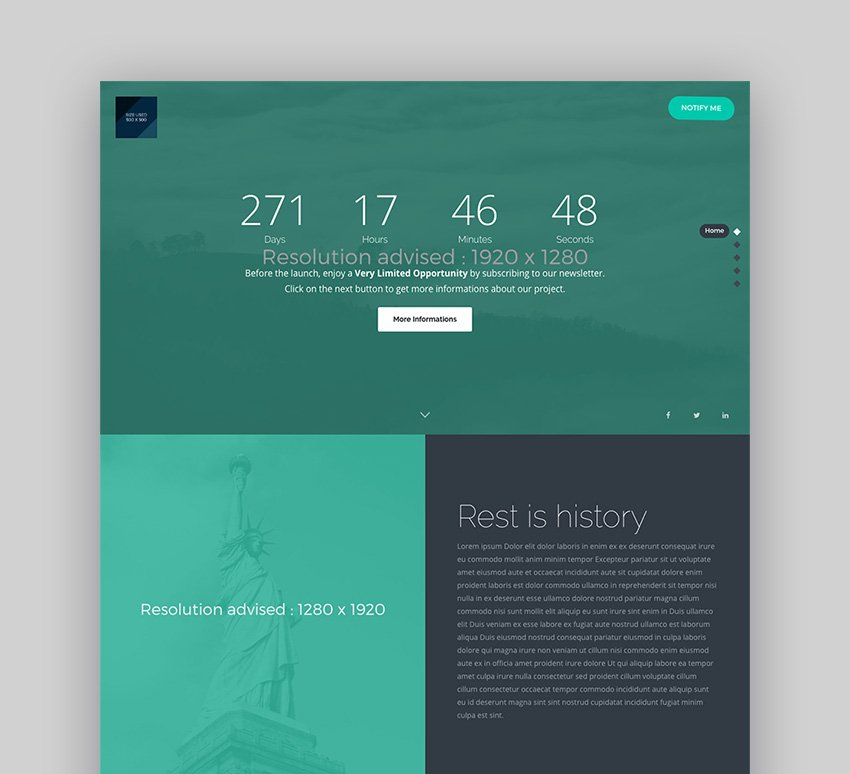 The Pure HTML template