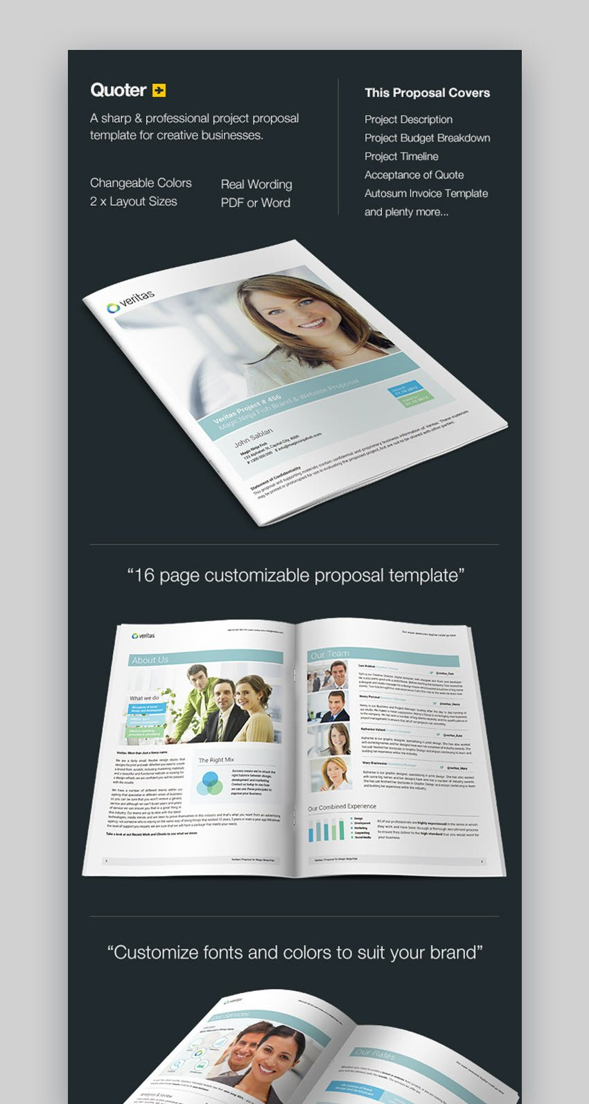 Quoter professional proposal template