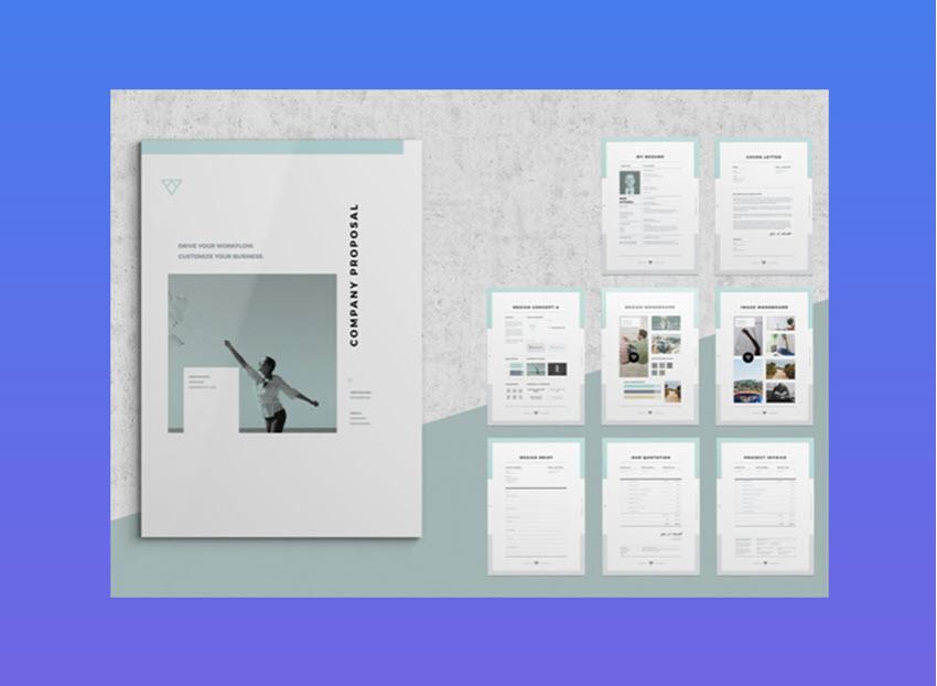 Popular graphic design proposal template