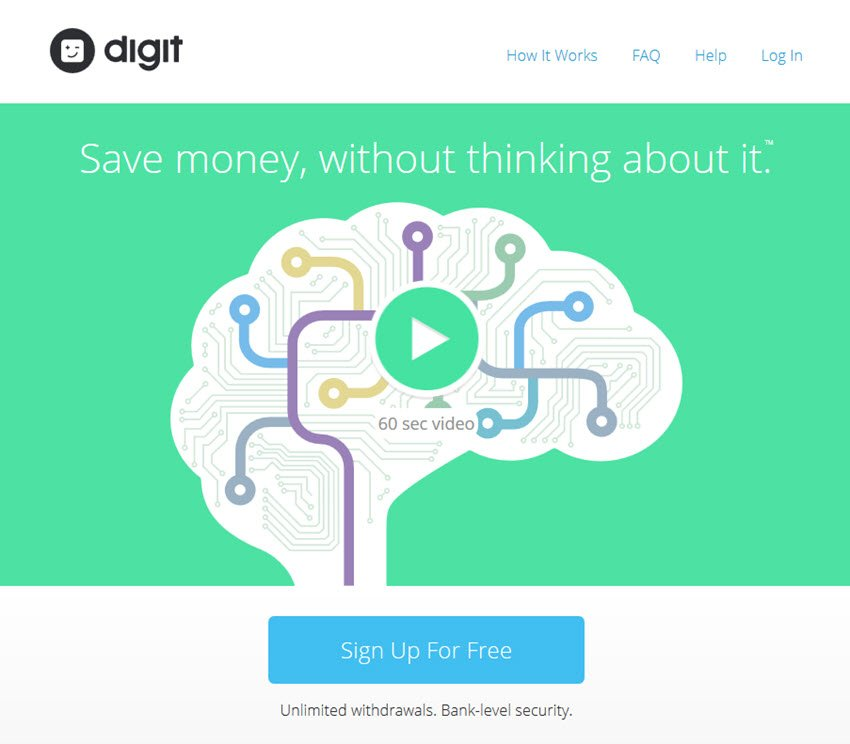 Digit Money Savings Tool