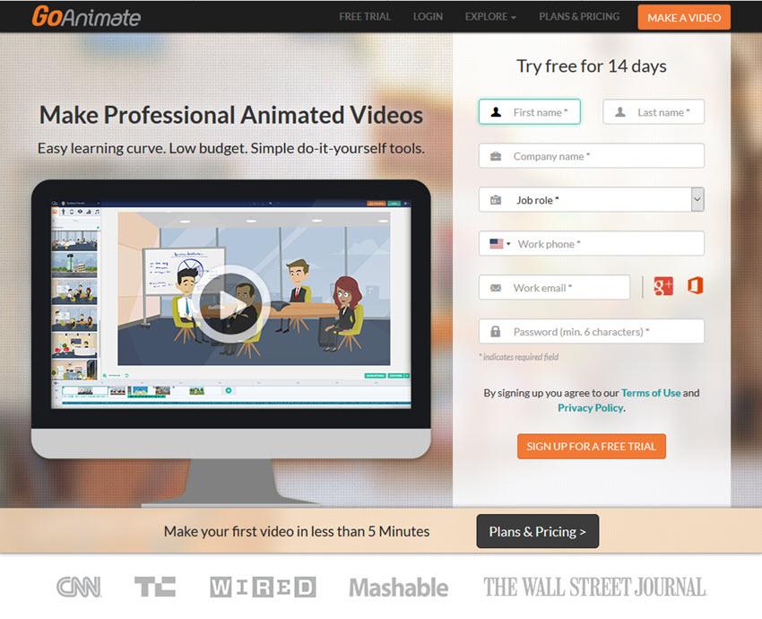 GoAnimate presentation software