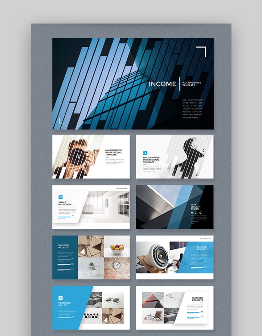 Income Popular PowerPoint Template