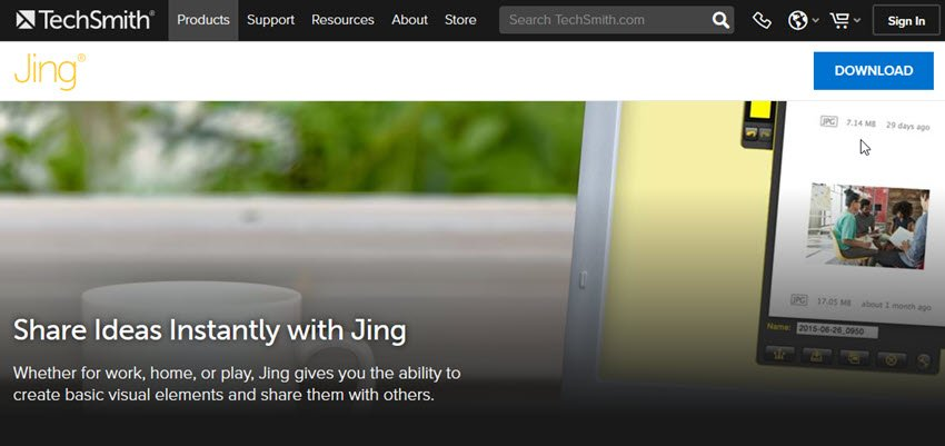 Jing screen capture tool for Macs