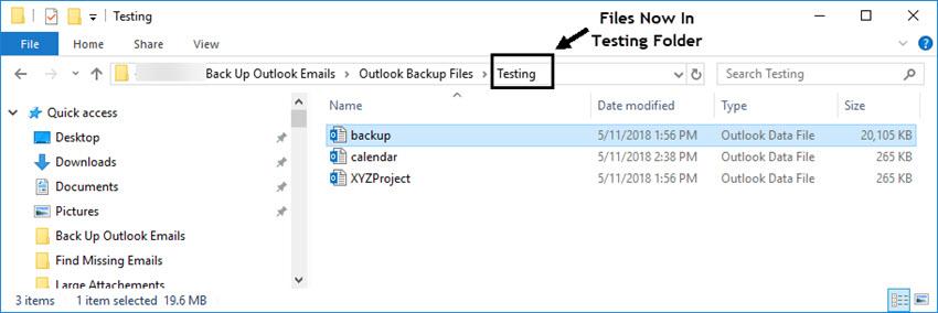 Outlook Backup File