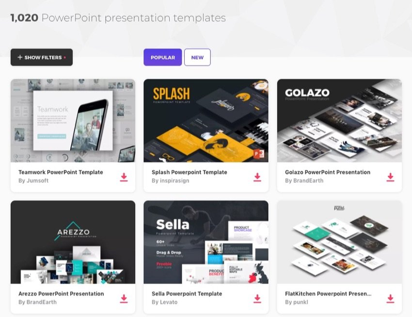 PowerPoint Themes on Elements