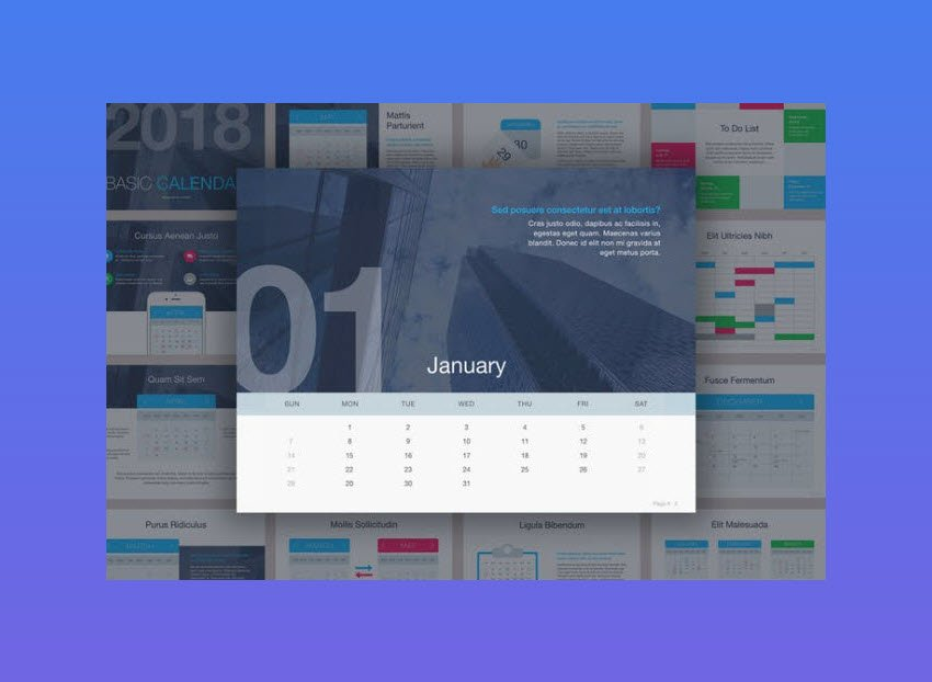 Basic Calendar PowerPoint Template