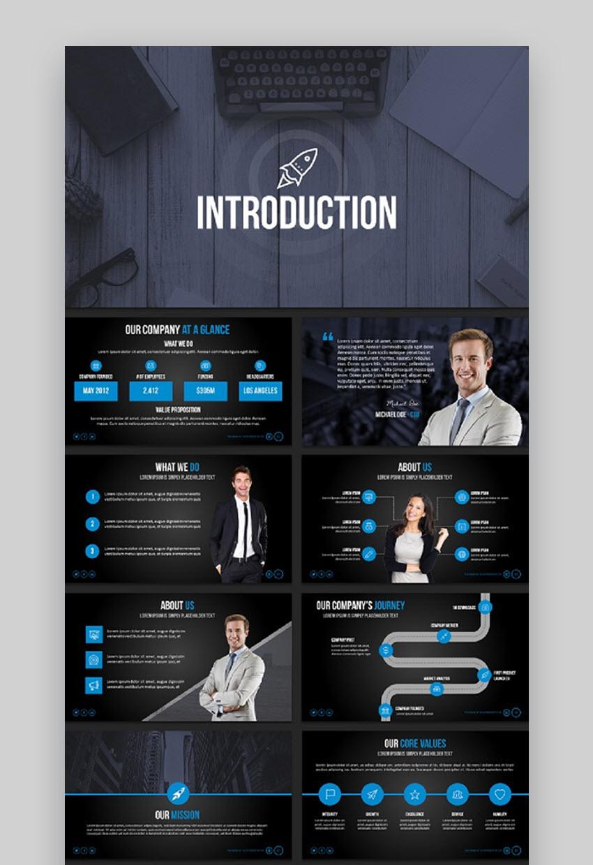 Influencer PowerPoint slide presentation template