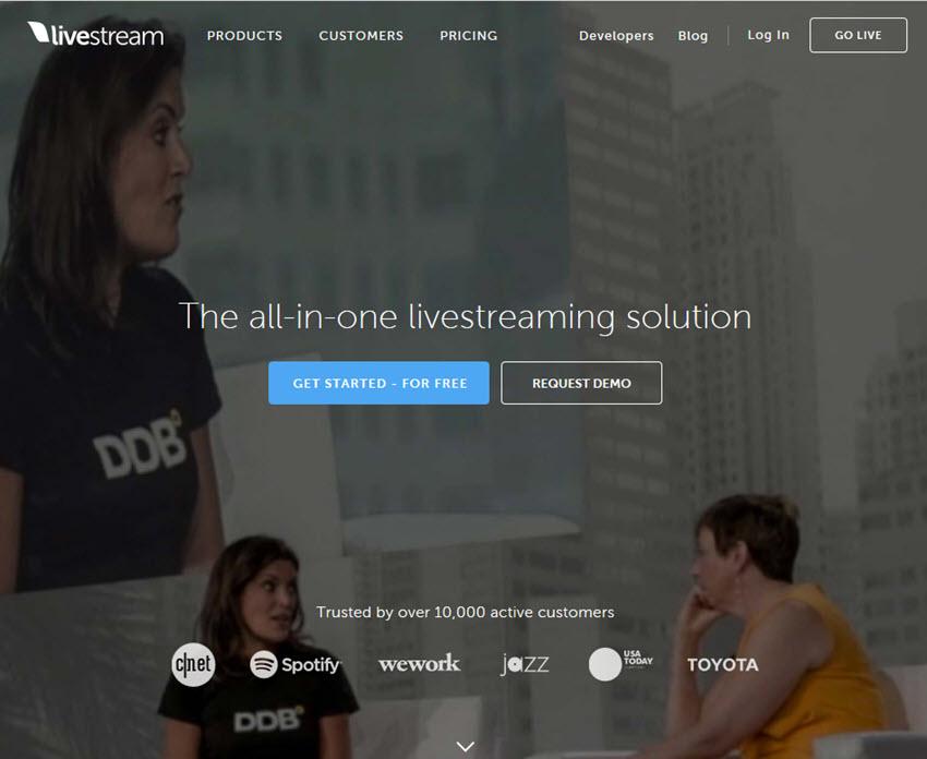 Livestream webinar software