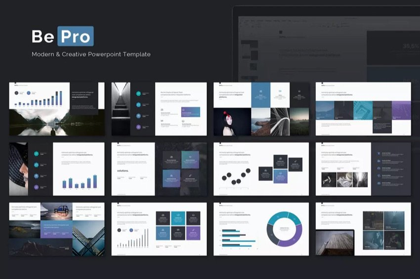 BePro PowerPoint Template Promotional Image