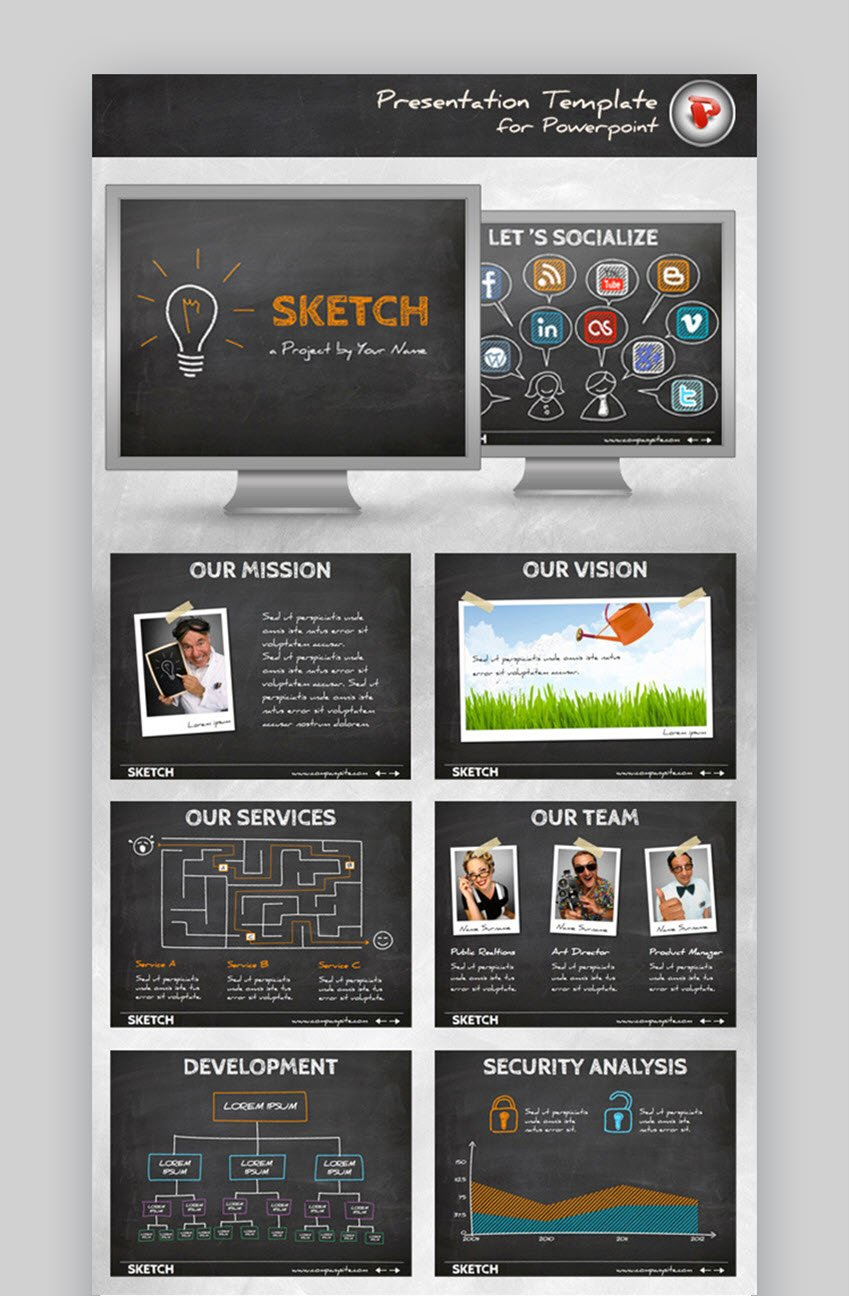 Sketch PowerPoint Template