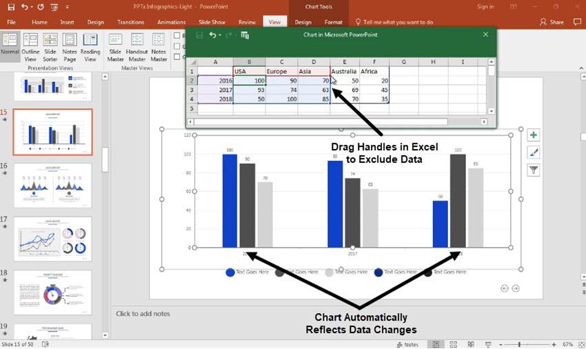 change PowerPoint charts data