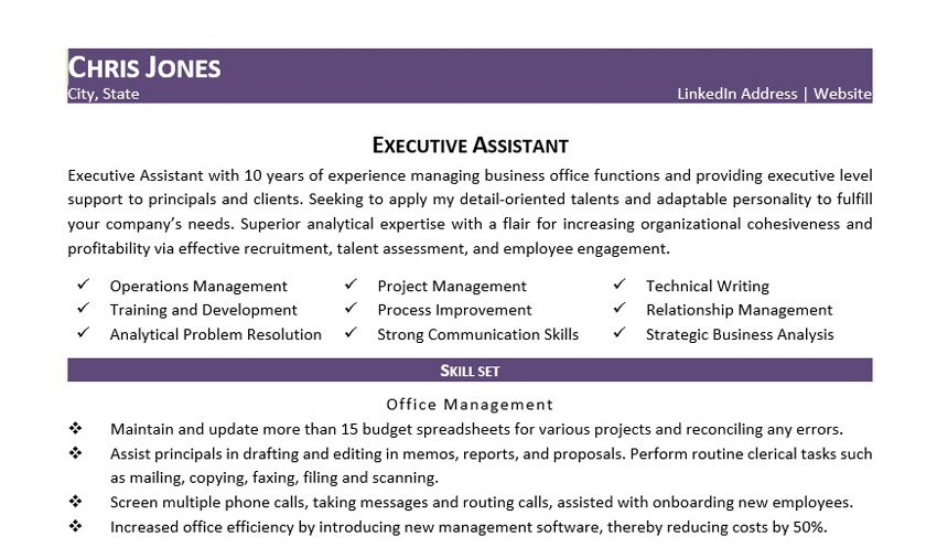 Purple Job Hopper Resume Template