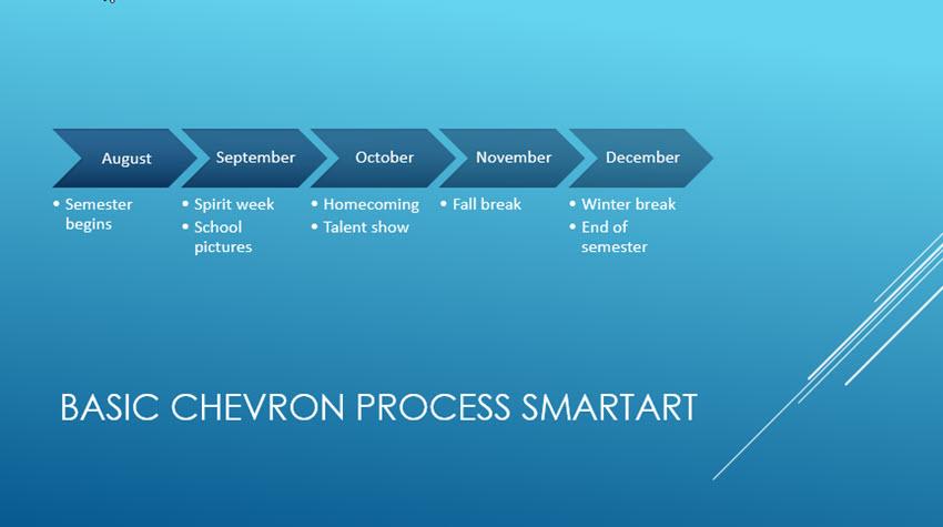 Blue Timeline Slide
