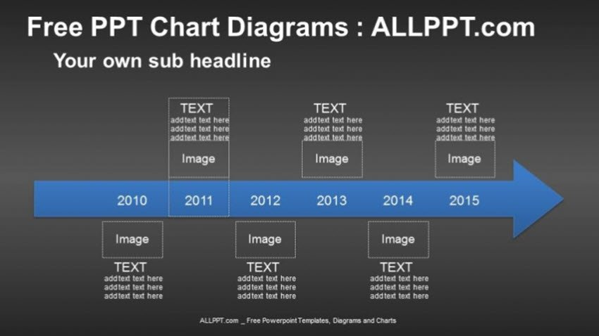 6 Years Arrow Timeline PPT Diagrams