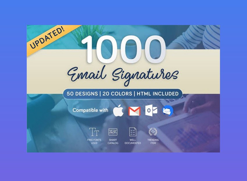 1000 Email Signatures template