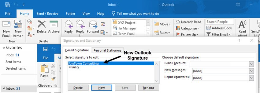 new Outlook email signature
