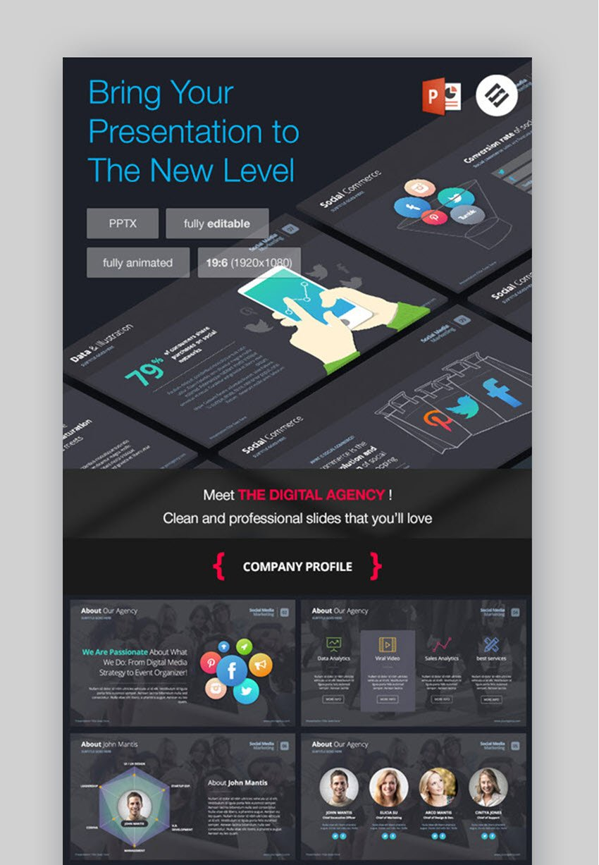 The Digital Agency PowerPoint Template