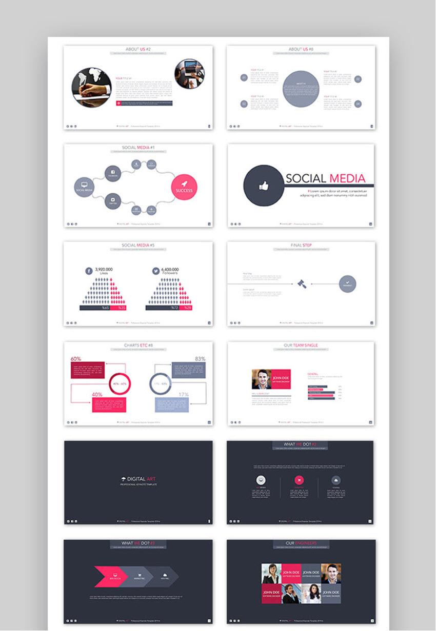 Digital Art Creative PowerPoint Template
