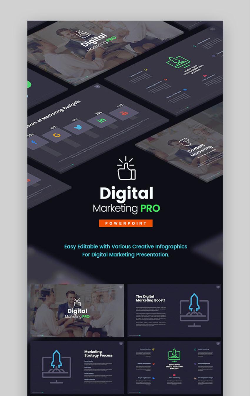 Digital Marketing Pro PowerPoint Template