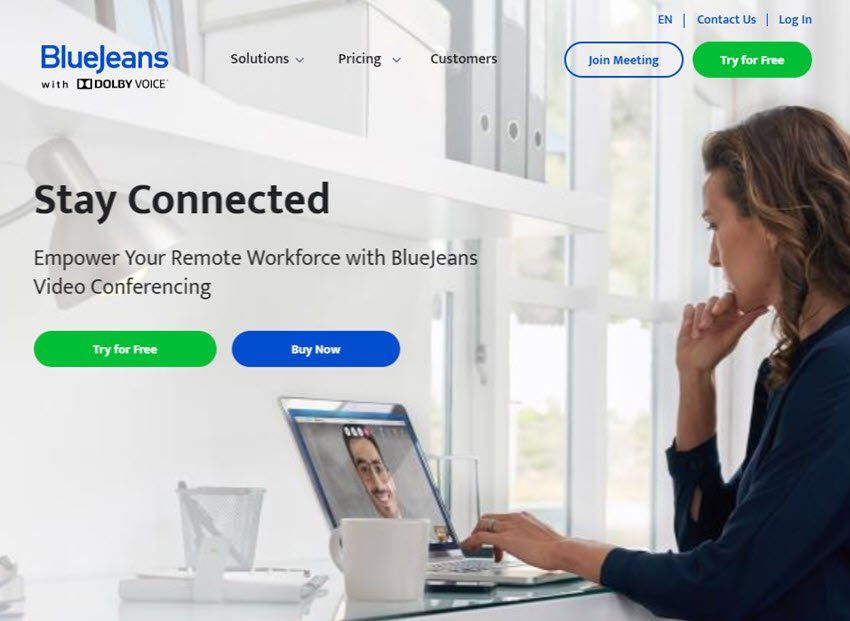 BlueJeans video web conferencing software