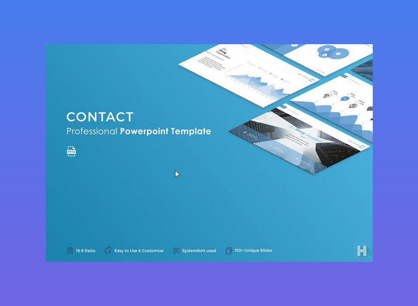 Contact PowerPoint Inspiration Template