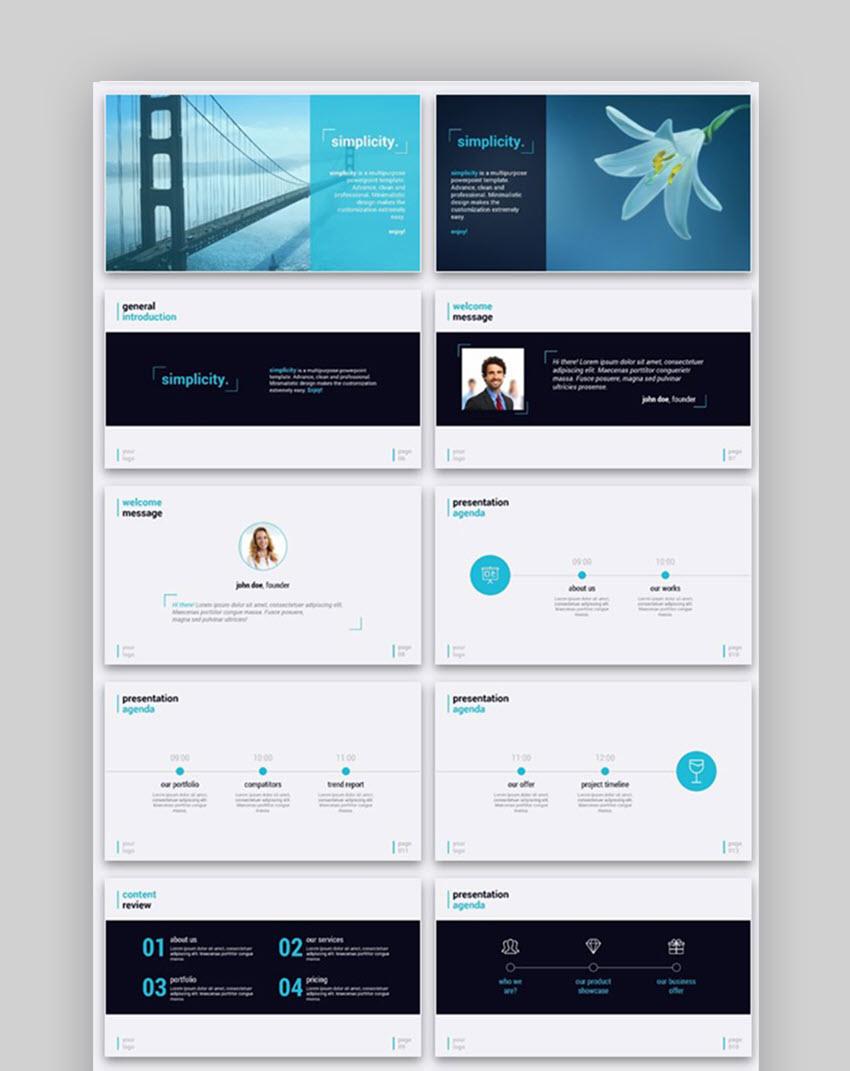 Simplicity Premium Presentation Design Inspiration Template