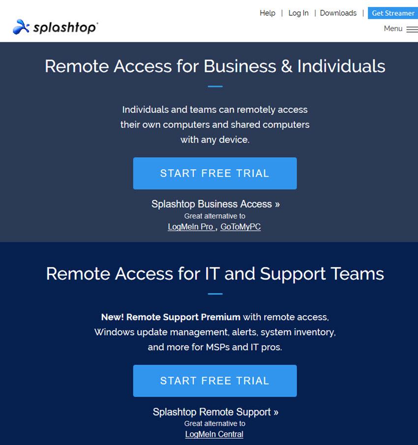 Splashtop remote access software