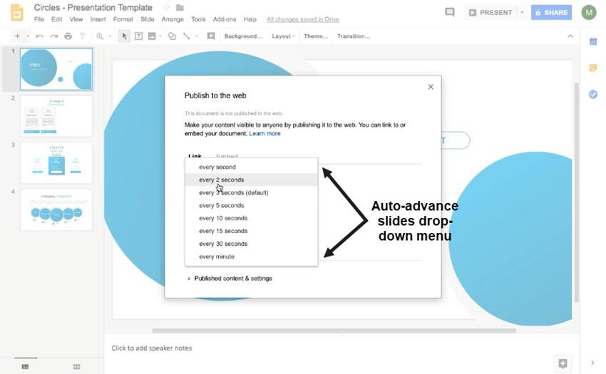 Google Slides Timer