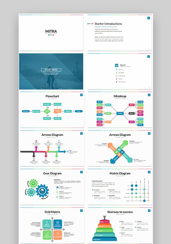 Mitra powerpoint flowchart templates