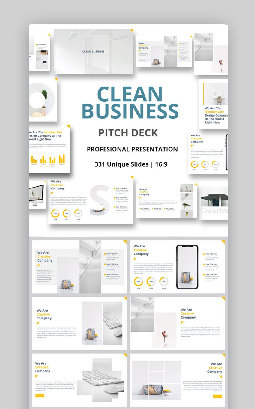 Pitch Deck Clean PowerPoint Template