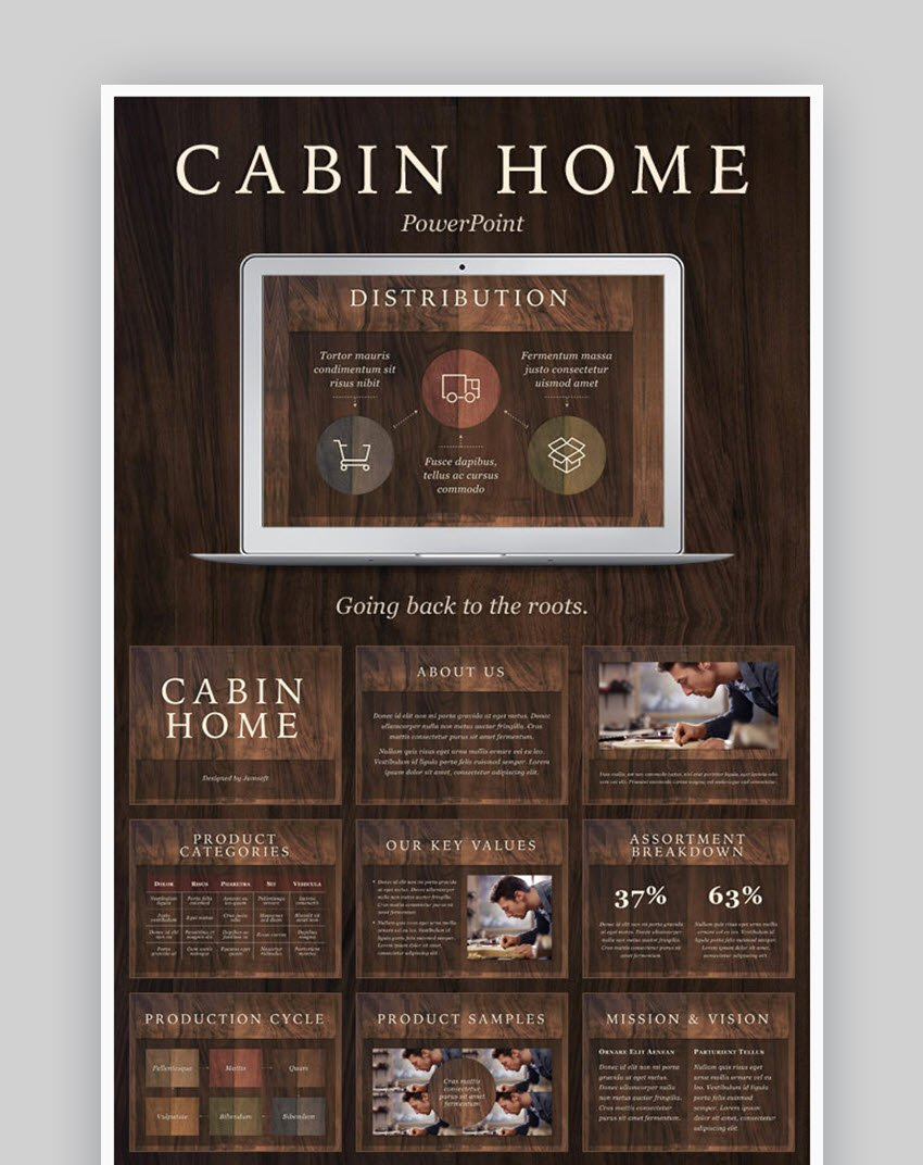Cabin Home PowerPoint Template