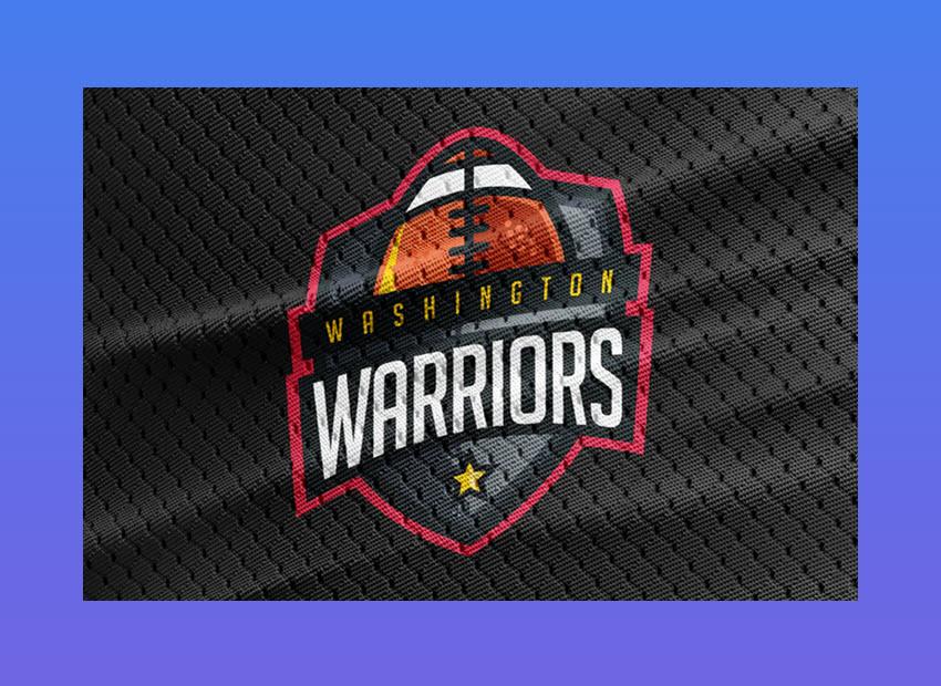 Warriors - Football Team Logo Template
