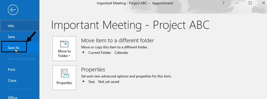 save item to desktop or folder