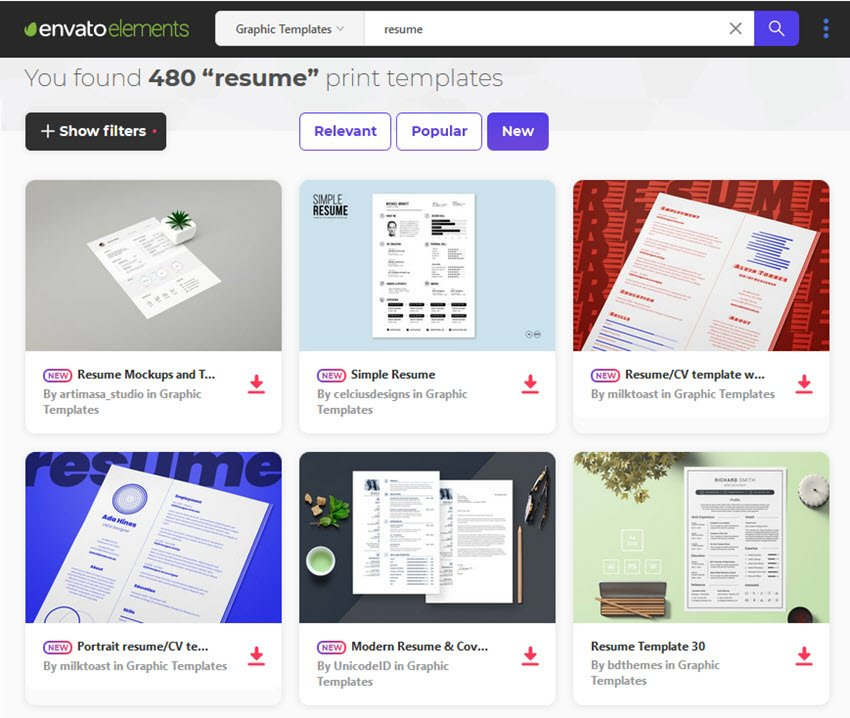 hundreds of resume styles