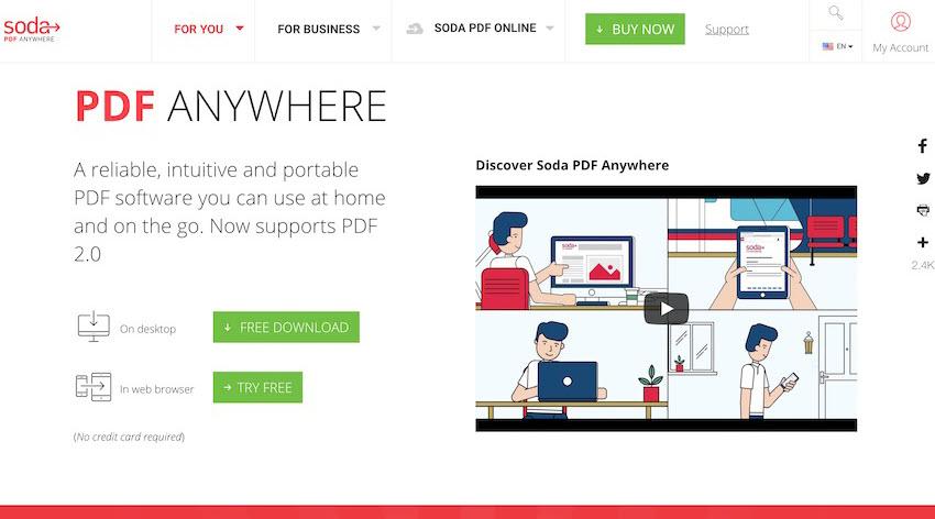 Soda PDF Anywhere PDF editor
