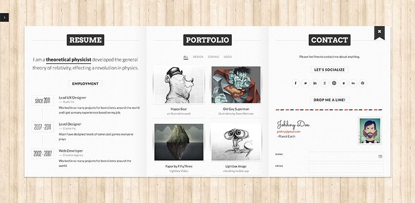 Bookcard template