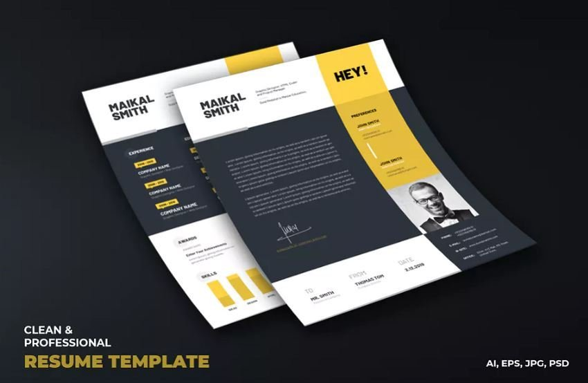 resume sample with attractive resume structure