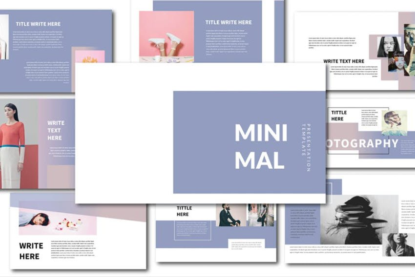 Minimal modern PowerPoint template