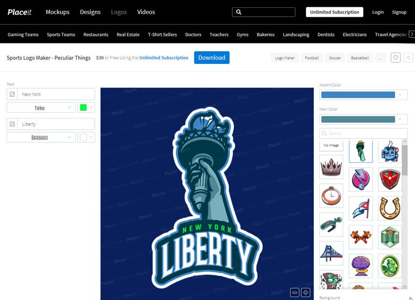 Sports Logo Maker - Peculiar Things