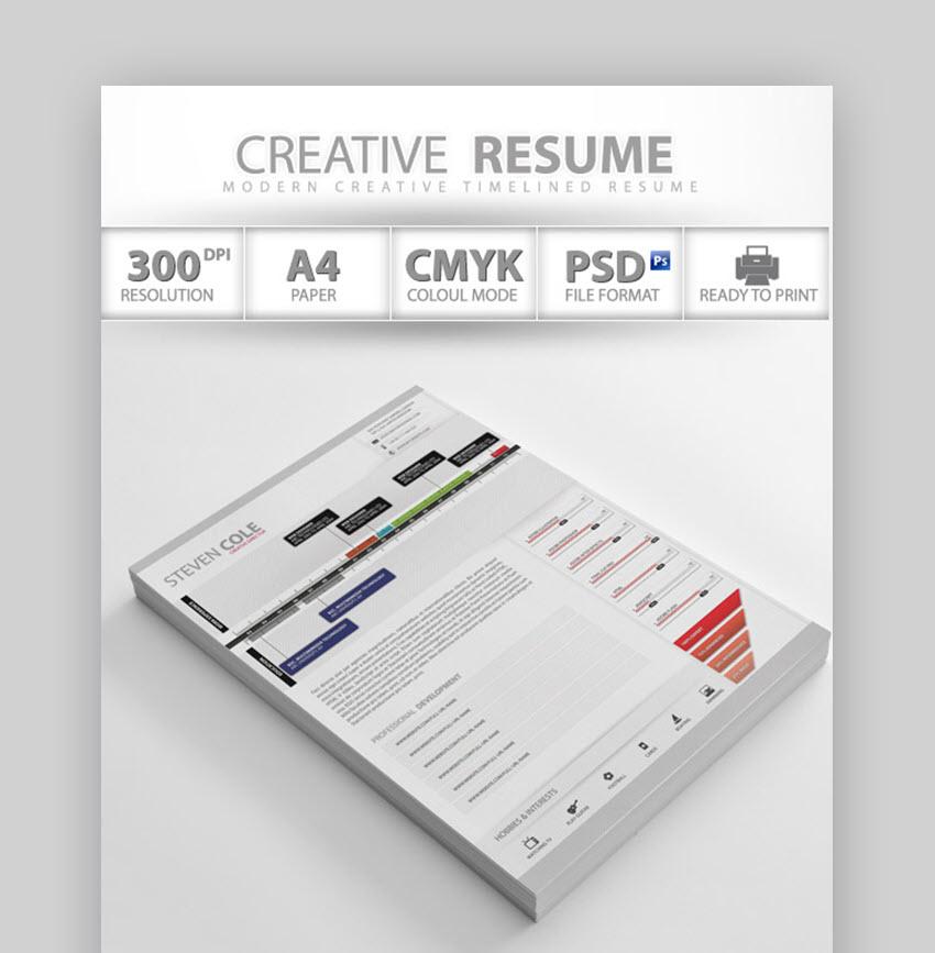 Professional Creative Resume - Artist Resume Sample