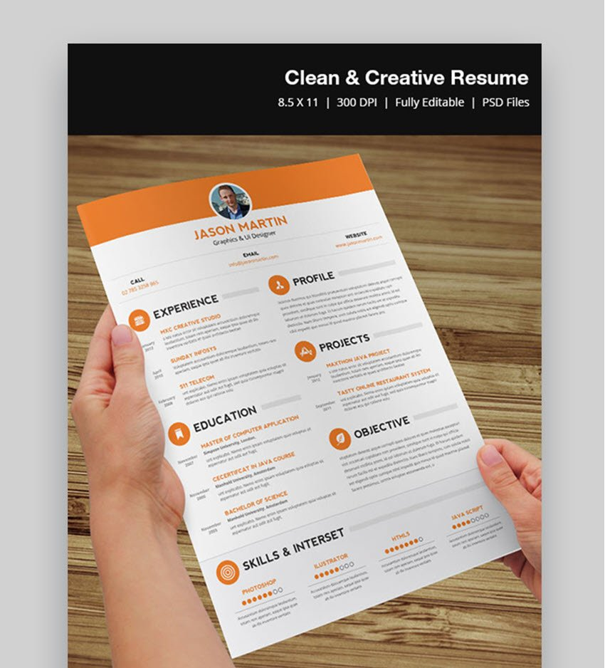 Clean and Creative Resume - Modern Visual Resume Template