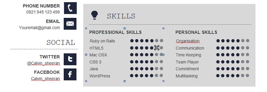 How-to-list-skills-on-resume-MS-Word