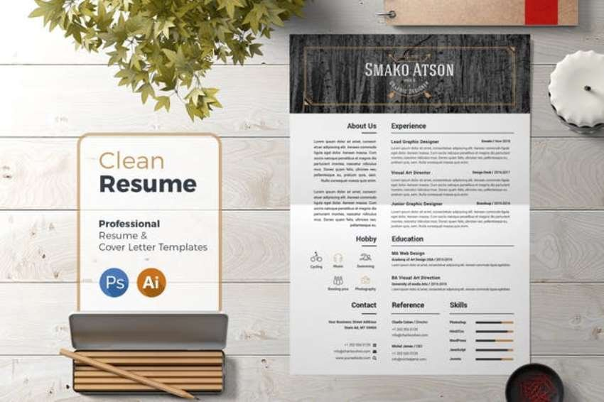Clean Resume Template from Envato