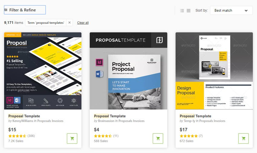 Business Proposal Templates on GraphicRiver