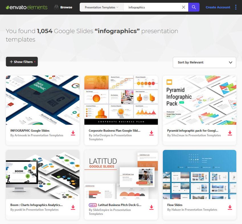 Envato Elements Infographic Slides