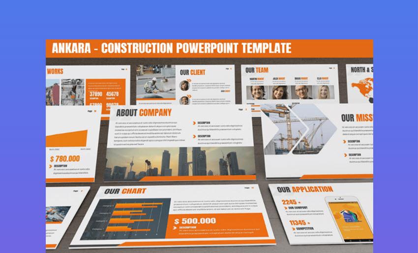 Ankara company org chart PowerPoint