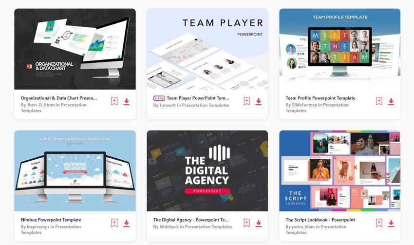 business organizational chart templates from Envato Elements