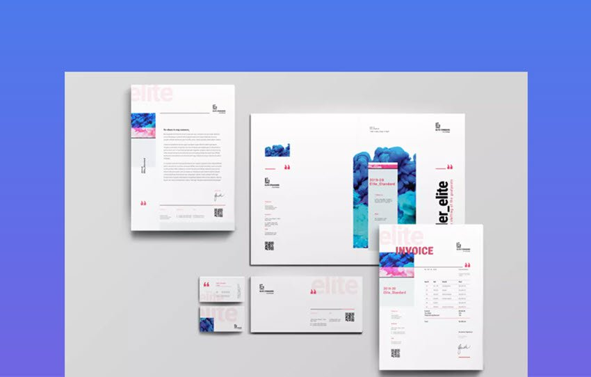 Elite Stationery - corporate letterhead template