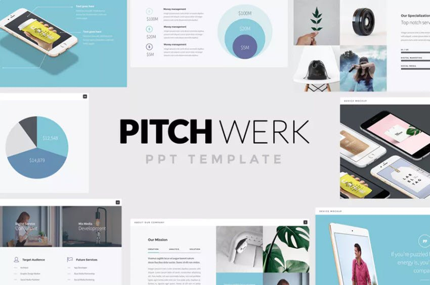 Pitchwerk PPT Template from Envato Elements